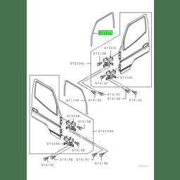 RUNCHANNEL,FR DOOR WINDOW GLASS,LH 1